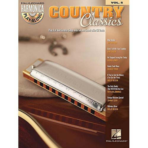 Hal Leonard Country Classics (Harmonica Play-Along Volume 5) Harmonica Play-Along Series Softcover with CD