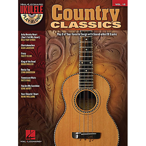 Hal Leonard Country Classics Ukulele Play-Along Volume 15 Book/CD
