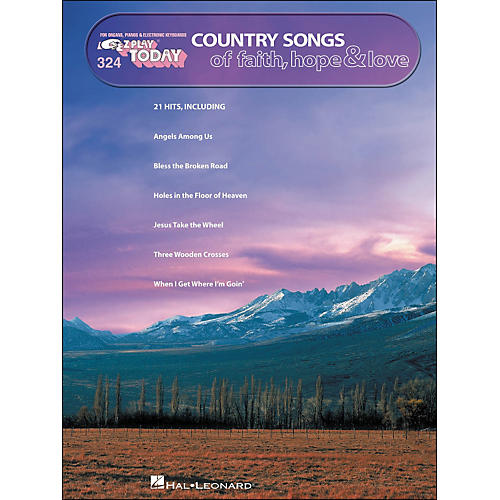 Hal Leonard Country Songs Of Faith, Hope & Love E-Z Play 324