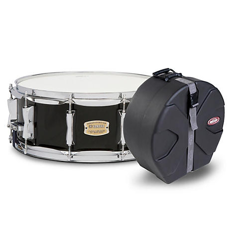 Yamaha Cranberry Red Stage Custom Birch Snare with SKB Case