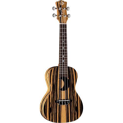 Luna Guitars Crescent Black/White Ebony Concert Ukulele