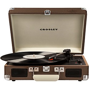 crosley cruiser deluxe portable turntable vinyl record player with built in speaker turquoise. Black Bedroom Furniture Sets. Home Design Ideas
