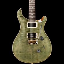 Custom 24 10-Top Electric Guitar Trampas Green