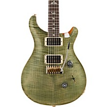 Custom 24 10-Top Electric Guitar Trampas Green