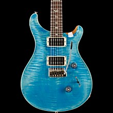 PRS Custom 24 Carved Figured Maple Top with Gen 3 Tremolo Solid Body Electric Guitar Aqua Blue