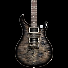 Custom 24 Carved Figured Maple Top with Gen 3 Tremolo Solid Body Electric Guitar Charcoal Burst
