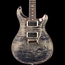 Custom 24 Carved Figured Maple Top with Gen 3 Tremolo Solid Body Electric Guitar Charcoal