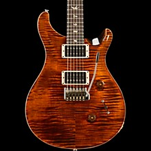 Custom 24 Carved Figured Maple Top with Gen 3 Tremolo Solid Body Electric Guitar Orange Tiger