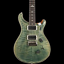 Custom 24 Carved Figured Maple Top with Gen 3 Tremolo Solid Body Electric Guitar Trampas Green