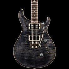 Custom 24 Carved Flame Maple Top with Nickel Hardware Electric Guitar Gray Black