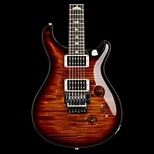 "PRS Custom 24 ""Floyd"" Figured Maple 10 Top Electric Guitar Black Gold Wrap Burst Ebony Fretboard"