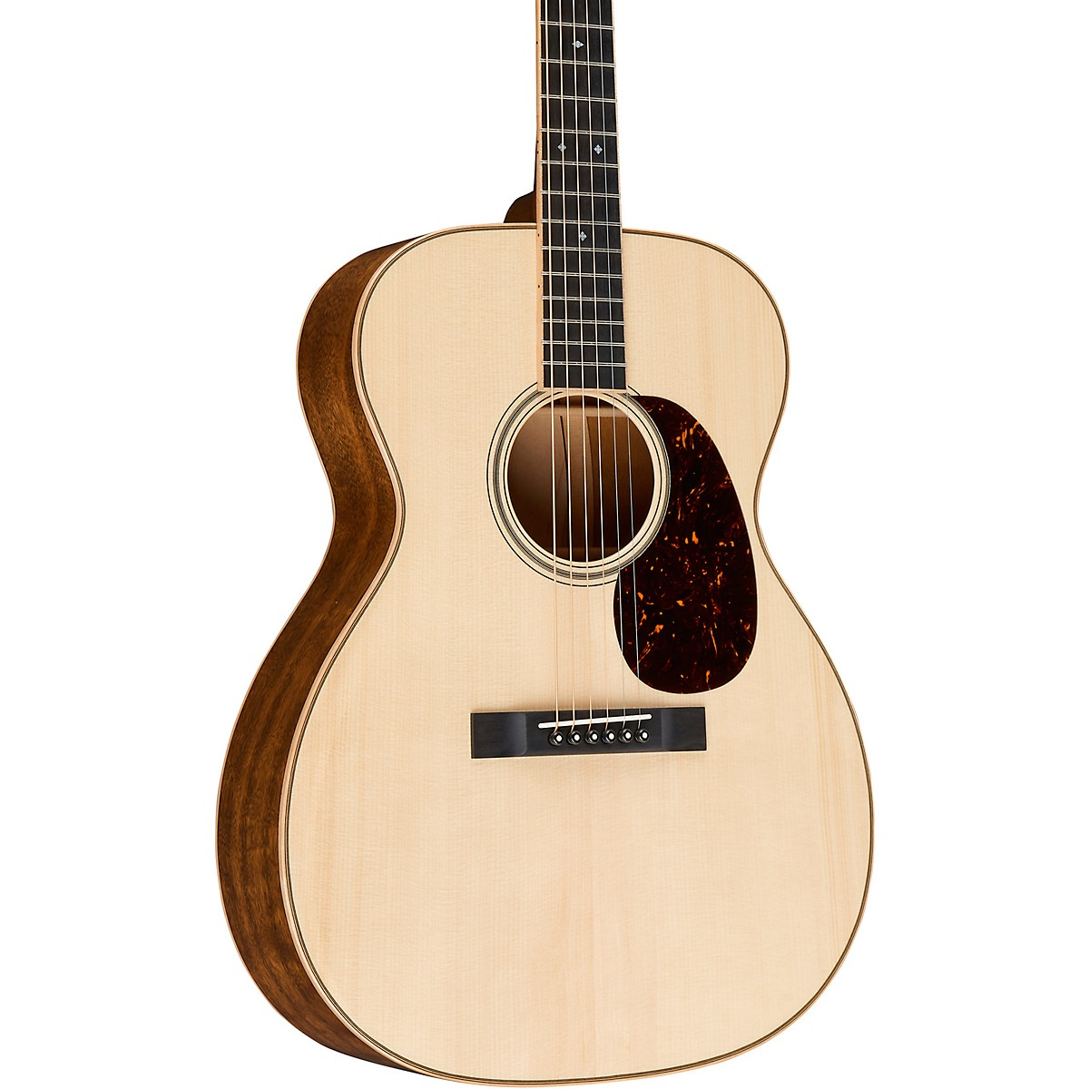 Martin Custom Auditorium Quilted Mahogany with Quilted Maple Swivel Wedge Deluxe
