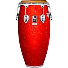 Custom Deluxe Solid Fiberglass Congas 11 in. Red Sparkle