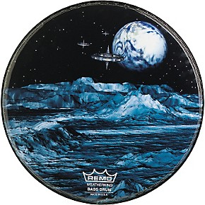 remo custom graphic blue moon resonant bass drum head guitar center. Black Bedroom Furniture Sets. Home Design Ideas