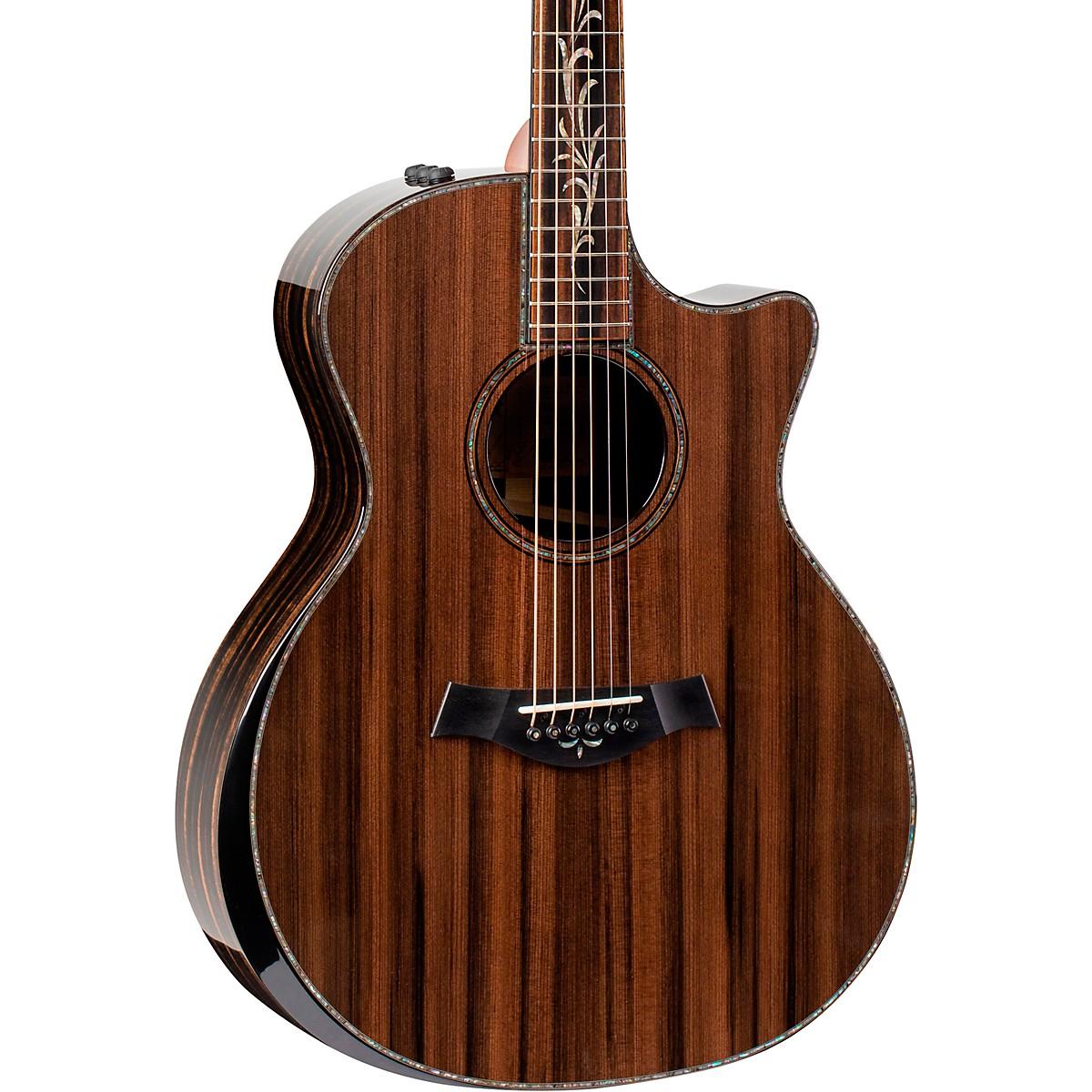 Taylor Custom Limited Edition Ebony Grand Auditorium Acoustic-Electric Guitar