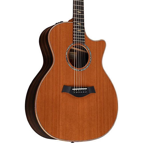 Taylor Custom Macassar Ebony Grand Auditorium Acoustic Electric Guitar