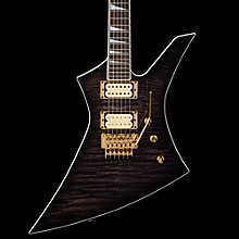Jackson Custom Select Kelly Flat Top Electric Guitar Transparent Black