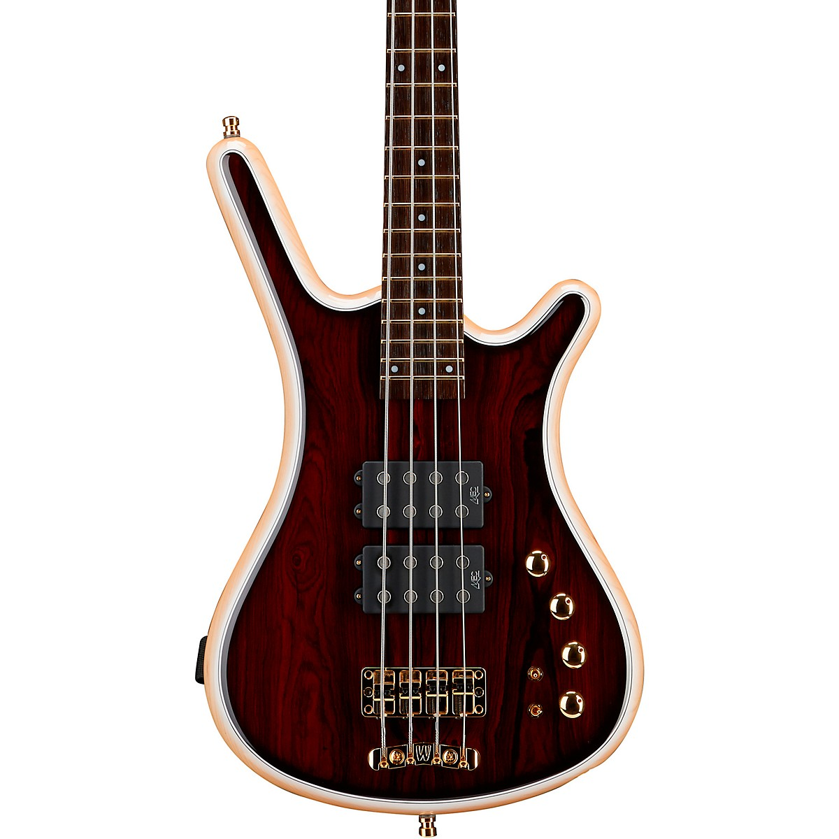 Warwick Custom Shop Corvette $$ Cocobolo Top 4-String Electric Bass