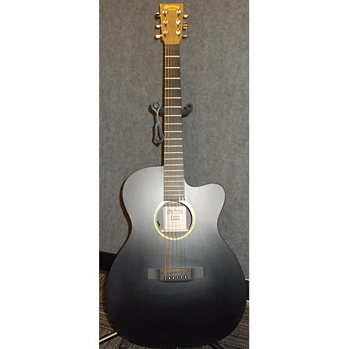 Martin Custom X Series Black Acoustic Electric Guitar