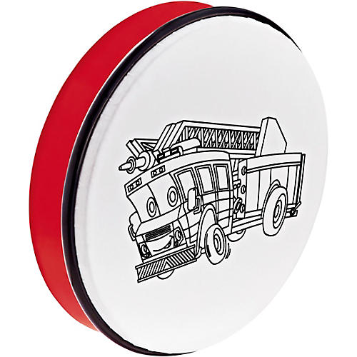 Nino Customizable ABS Hand Drum with Fire Truck Design