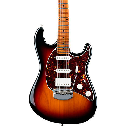 ernie ball music man cutlass rs hss maple fingerboard electric guitar vintage sunburst guitar. Black Bedroom Furniture Sets. Home Design Ideas