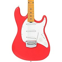 Cutlass Trem Maple Fingerboard Electric Guitar Coral Red