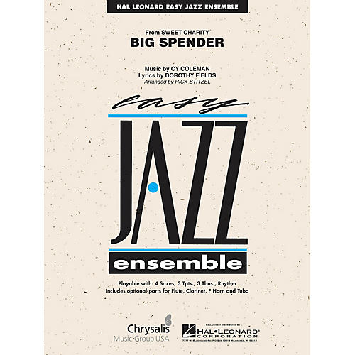 Hal Leonard Cy Coleman: Big Spender (Sweet Charity) Jazz Band Level 2 Arranged by Rick Stitzel