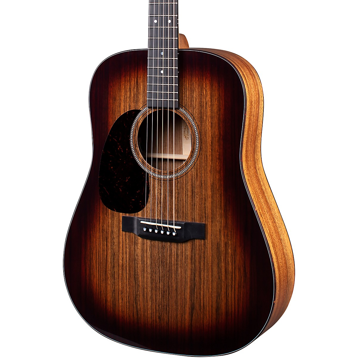 Martin D-16E 16 Series Ovangkol Burst Left-Handed Acoustic-Electric Guitar