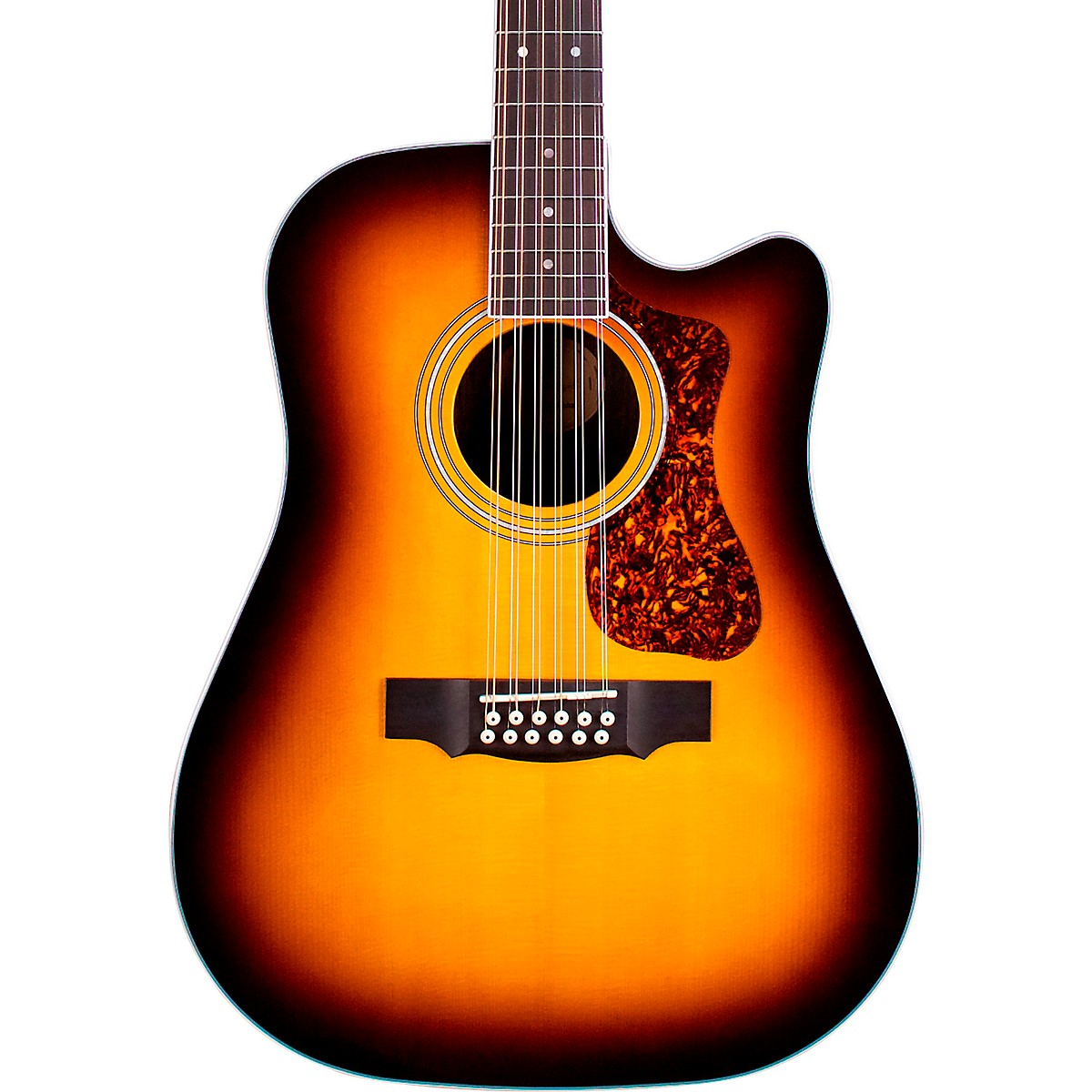 Guild D-2612E Deluxe 12-String Cutaway Acoustic-Electric Guitar