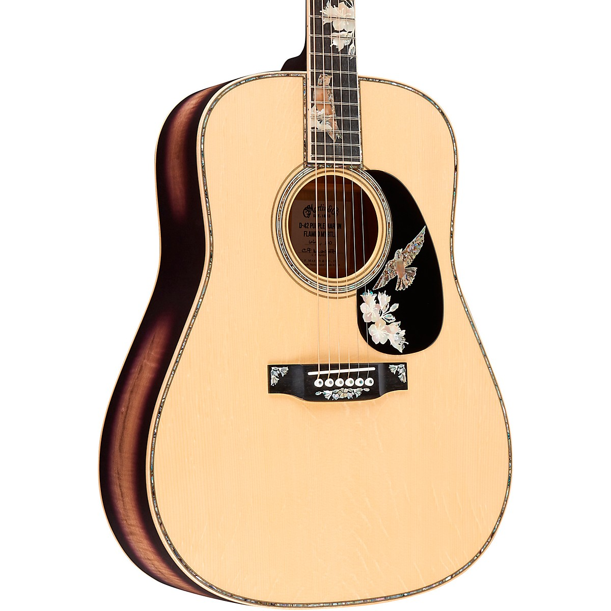 Martin D-42 Purple Martin Limited-Edition Flamed Myrtle Dreadnought Acoustic Guitar