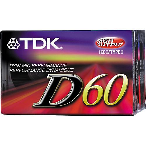 TDK D-60 Type 1 Cassette 10 Each
