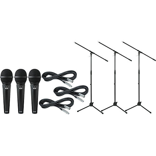 AKG D 9000 with Cable and Stand 3 Pack