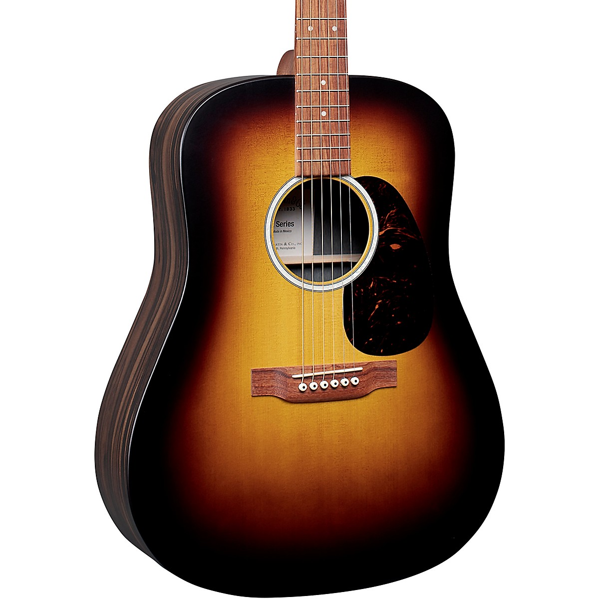 Martin D-X2E Macassar Ebony Sunburst Dreadnought Acoustic-Electric Guitar