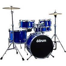 Ddrum D1 5-Piece Junior Drum Set with Cymbals Level 1 Police Blue