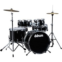 D1 5-Piece Junior Drum Set with Cymbals Midnight Black