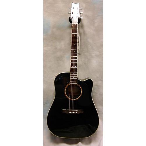 Washburn D10SCEB Black Acoustic Guitar