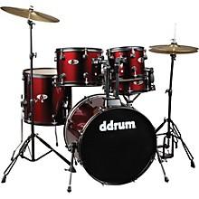 D120B 5-Piece Drum Set Red