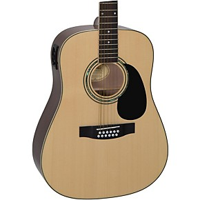 mitchell d120s12e 12 string dreadnought acoustic electric guitar natural guitar center. Black Bedroom Furniture Sets. Home Design Ideas