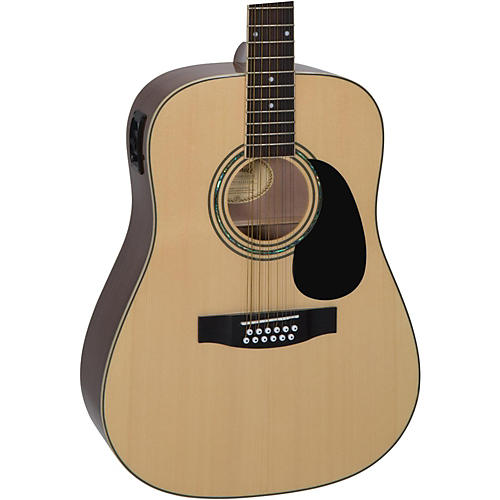 479f6ea3b7e Mitchell D120S12E 12-String Dreadnought Acoustic-Electric Guitar ...