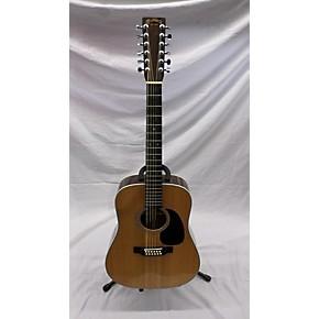 used martin d1228 12 string acoustic guitar antique natural guitar center. Black Bedroom Furniture Sets. Home Design Ideas