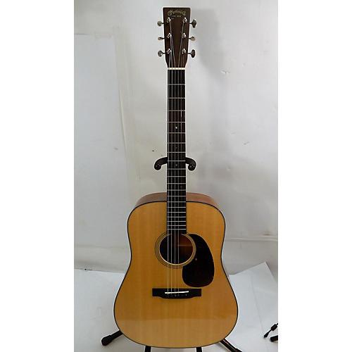 used martin d18 acoustic guitar natural guitar center. Black Bedroom Furniture Sets. Home Design Ideas