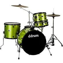 D2 4-Piece Drum Set Lime Sparkle Black Hardware