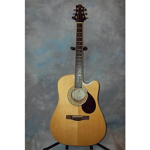 Samick D5CE Natural Acoustic Electric Guitar