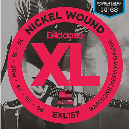 D'Addario D'Addario EXL157 Nickel Wound Medium Baritone Guitar Strings