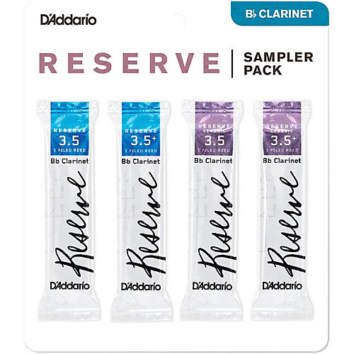 D'Addario Woodwinds D'Addario Reserve Bb Clarinet Reed Sampler Pack