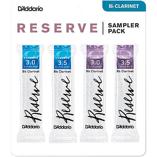 D'Addario Woodwinds D'Addario Reserve Bb Clarinet Reed Sampler Pack