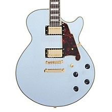 D'Angelico EX-SS Non-F Hole Deluxe Edition Hollowbody Electric Guitar Matte Powder Blue Tortoise Pickguard