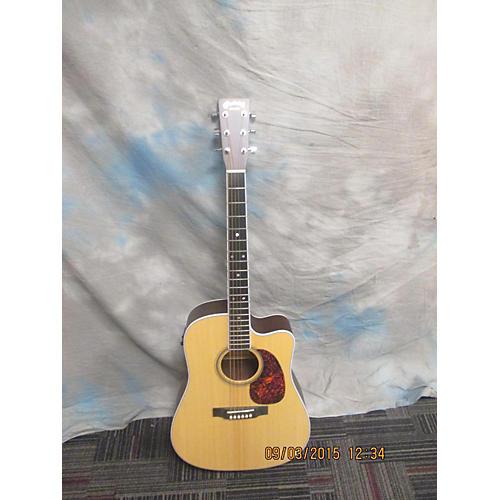 Martin DC16RGTEAURA Natural Acoustic Electric Guitar
