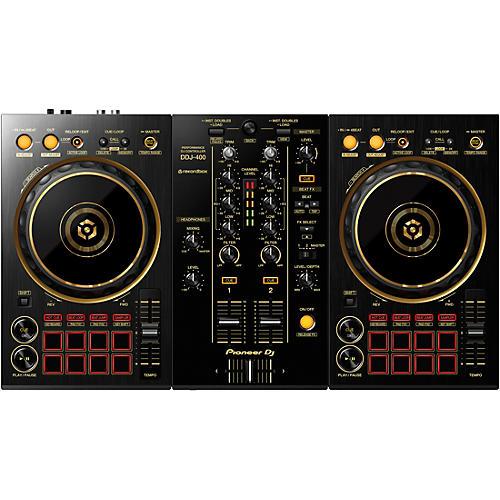 Pioneer DJ DDJ-400-N Limited Edition Gold 2-Channel DJ Controller for rekordbox dj