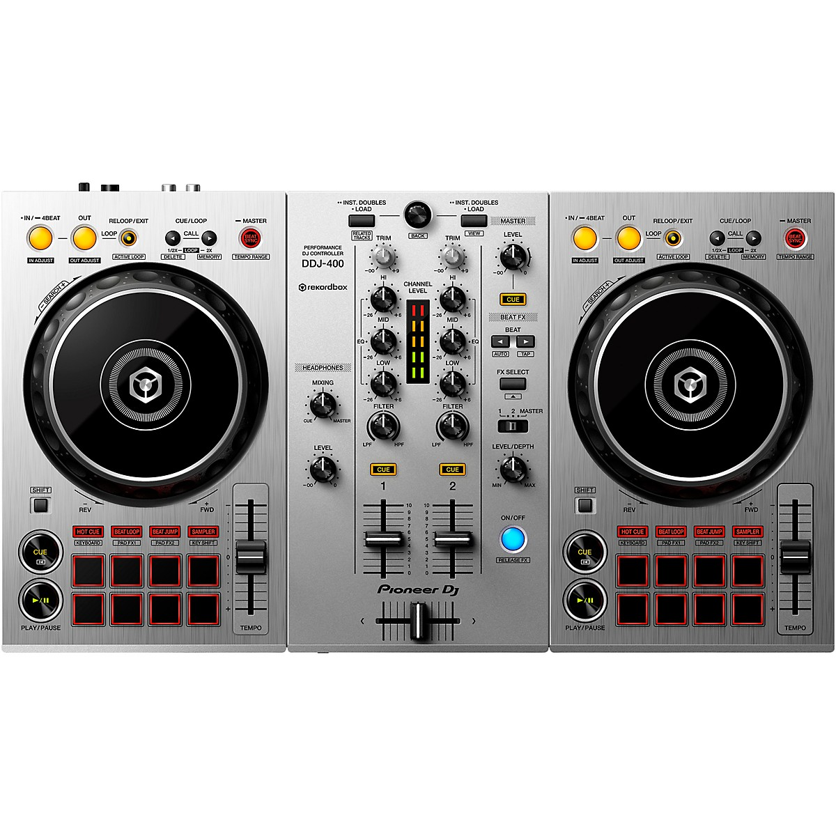 Pioneer DDJ-400-S Limited Edition Silver 2-Channel DJ Controller